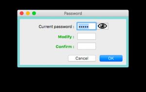 Change passwords