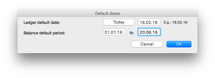 Default dates