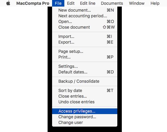 File Access Privileges