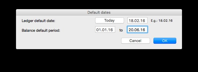 Default dates